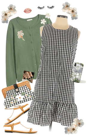 Black Gingham and Apple Blossoms