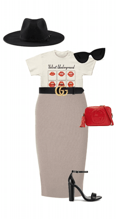 classy with band tee