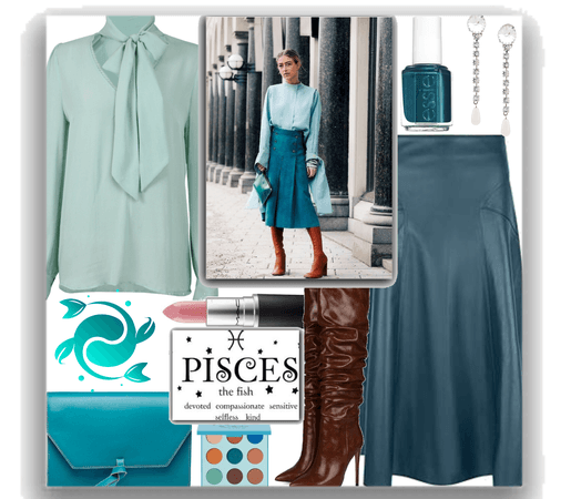 Pisces teal outfit