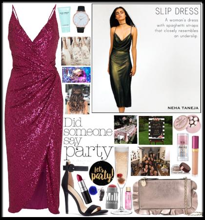 Slip Dress Style #PARTY🥳