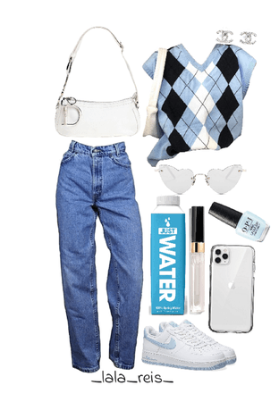 Blue Cute Outfit