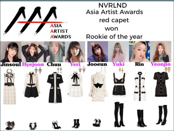NVRLND Asia Artist Awards red carpet won ROFTY