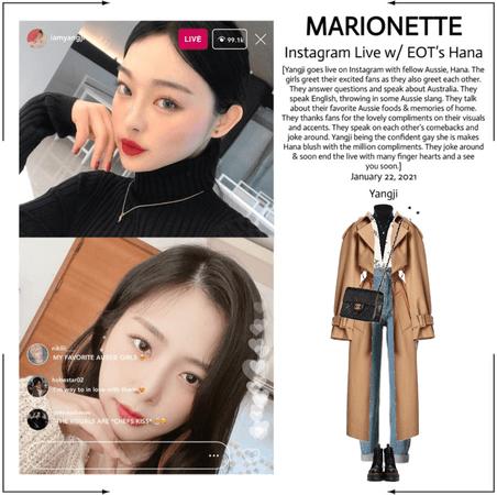 마리오네트 (𝗠𝗔𝗥𝗜𝗢𝗡𝗘𝗧𝗧𝗘) - [YANGJI] Instagram Live w/ EOT's Hana