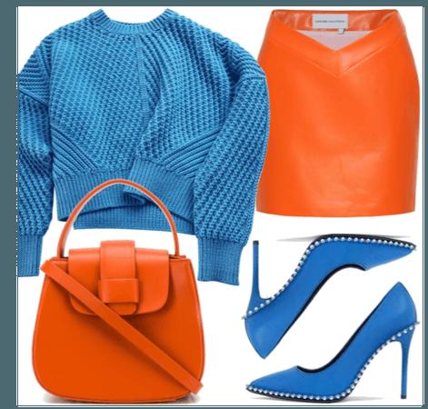 Color Blocking - Orange&Blue