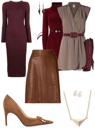 burgundy and brown
