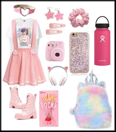 Anime pink girl