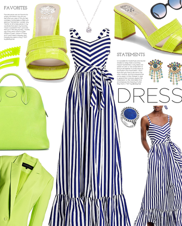 bright secondary | simple summer dress