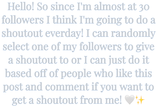Message: Thanks + Shoutouts!