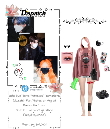 Lee Jennie with Odd Eye: Dispatch Fansite Updates; Arriving at Music Bank {02.03.2021}