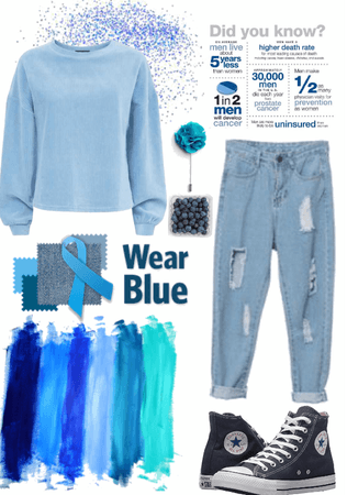 Wear blue, for him.