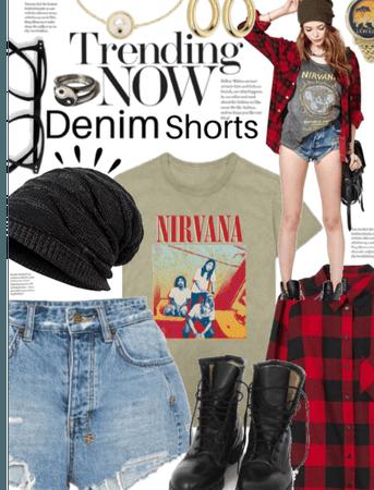 Trending Now: Grunge Punk Denim shorts