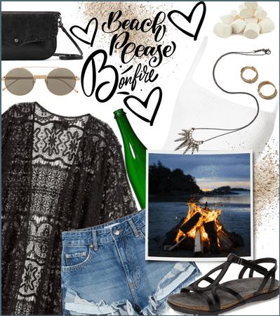 #Summer  beach bonfire J