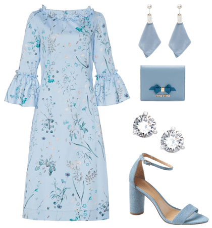 Elegant Blue Outfit