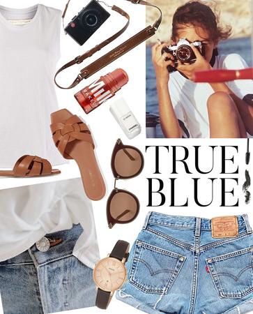 true blue profession | denim shorts style