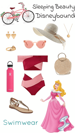 Sleeping Beauty Swimwear Disneybound
