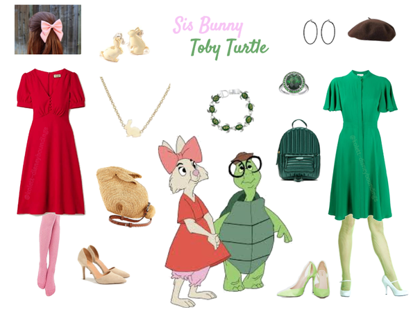 Sis Bunny & Toby Turtle outfits - Disneyboundings