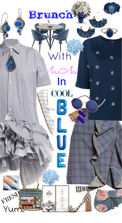 Brunch with Mom in Cool Blue!