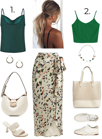 2 options for how to wear a wrap skirt