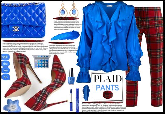 Pants of plaid