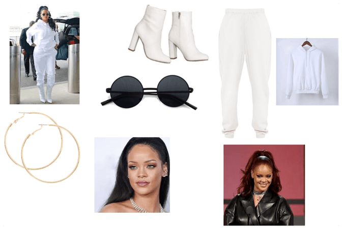 Rihanna streetwear inspired outfit