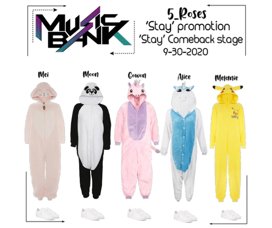 5ROSES 'Stay' Comeback Stage 'Onesies Ver.