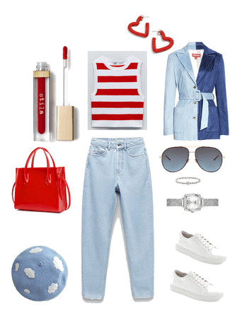 Blue _ White _ Red  for Spring