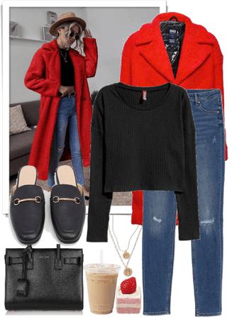 Red Teddy coat