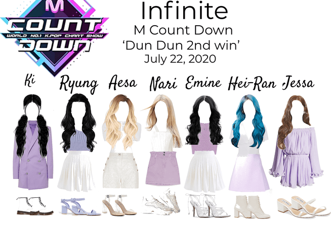 Infinite Dun Dun Second Win Stage outfits