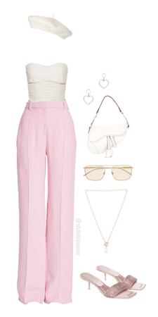 Girly Pink Parisian Look