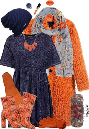 Denim and Orange