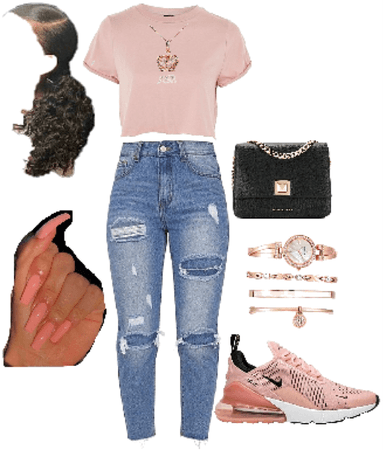light pink air max 270 outfit