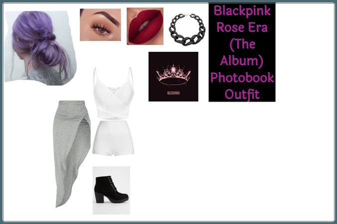 Rose Blackpink (The album) photobook outfit