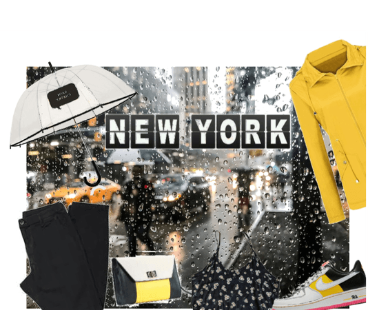New York in the rain- made by my mom