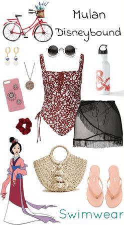 Mulan Swimwear Disneybound