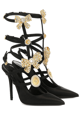 Versace bow shoes