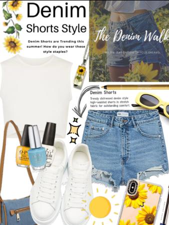 The Denim Walk  Sunflowers and Denim 🌻