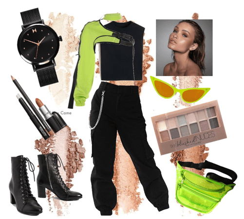 sports luxe shopping look