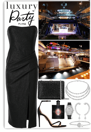 Luxury party on a yacht look