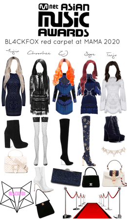 BL4CKFOX outfits for the MAMA 2020 red carpet