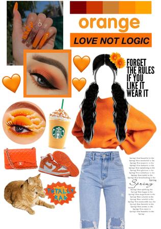 orange aesthetic🧡🍑🍊🎃