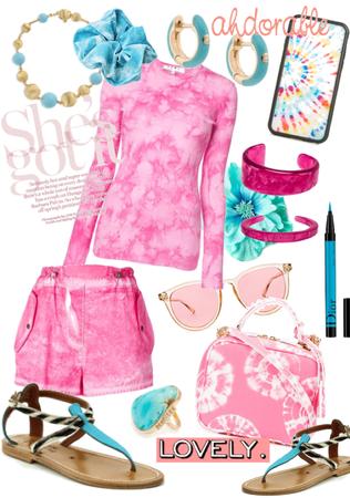 Pink Tye and dye