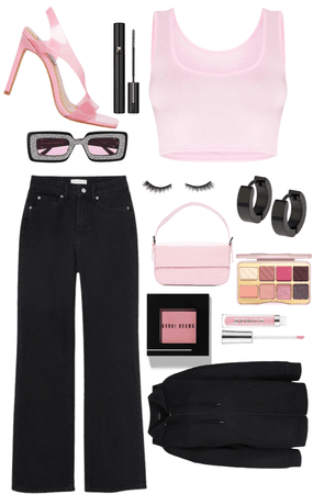 PINK💕 AND BLACK 🖤FIT