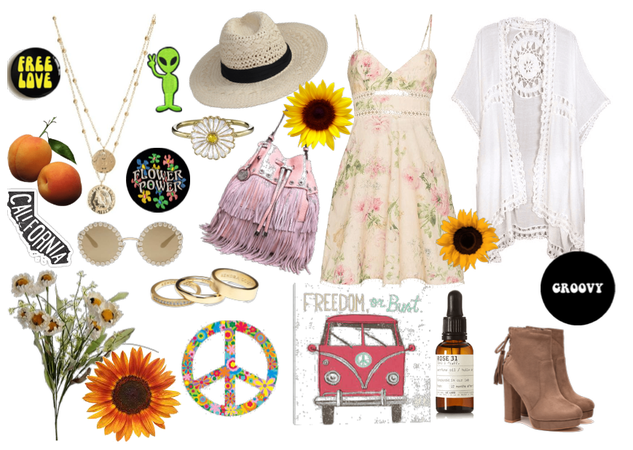 Girly Boho Flower Child