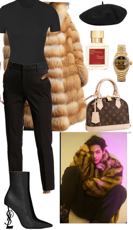 luxury bts inspired fall/winter outfit