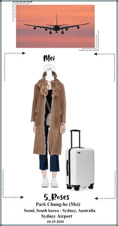 5ROSES (Mei) Airport fashion: Seoul ➡ Sydney
