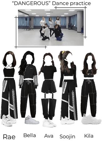 """DANGEROUS"" dance practice | XOC fake girl group"