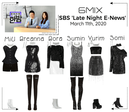 《6mix》SBS 'Late Night E-News'