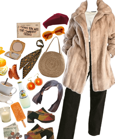 🍊Warm Coat Style, With The Love Of Orange🍊