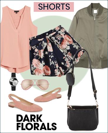 Dark floral shorts