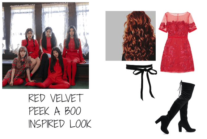 RED VELVET PEEK A BOO  INSPIRED LOOK